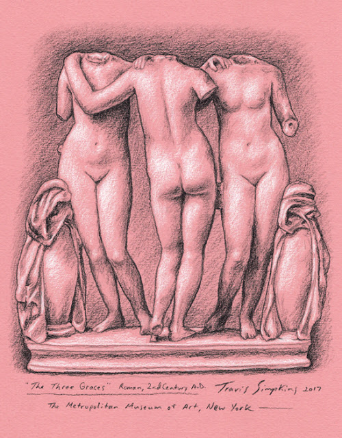 The Three Graces. Ancient Roman. The Metropolitan Museum of Art, New York. by Travis Simpkins