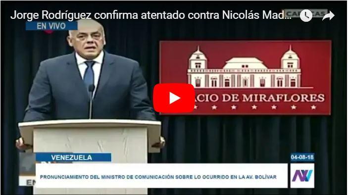 Jorge Rodríguez afirmó en TV que maduro se encuentra bien y comiendo arepas