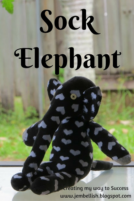 Sock Elephant - an Upcycle
