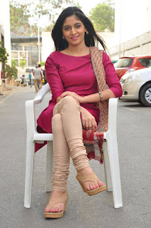 Actress Zahida Sam Pictures in Salwar Kameez at Padesaave Movie Team Interview  0035