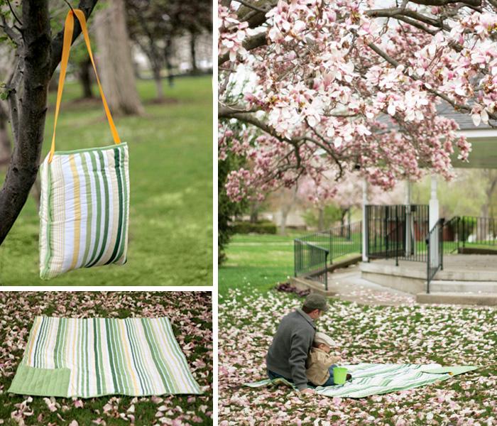 picnic, manta, portable, costura, labores, diys, manualidades