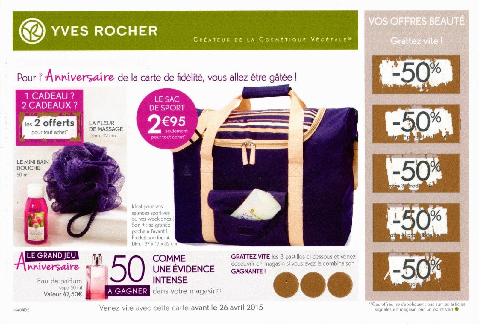 Carte Anniversaire Yves Rocher