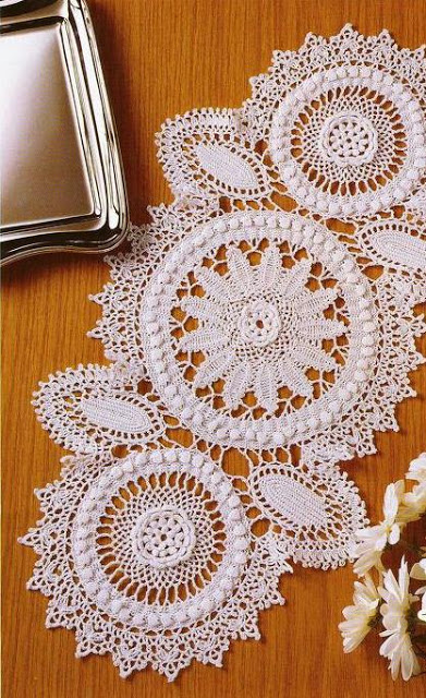 Crochet Yarn Store : Delicate table Centerpiece Crochet Yarn Store FREE PATTERNS