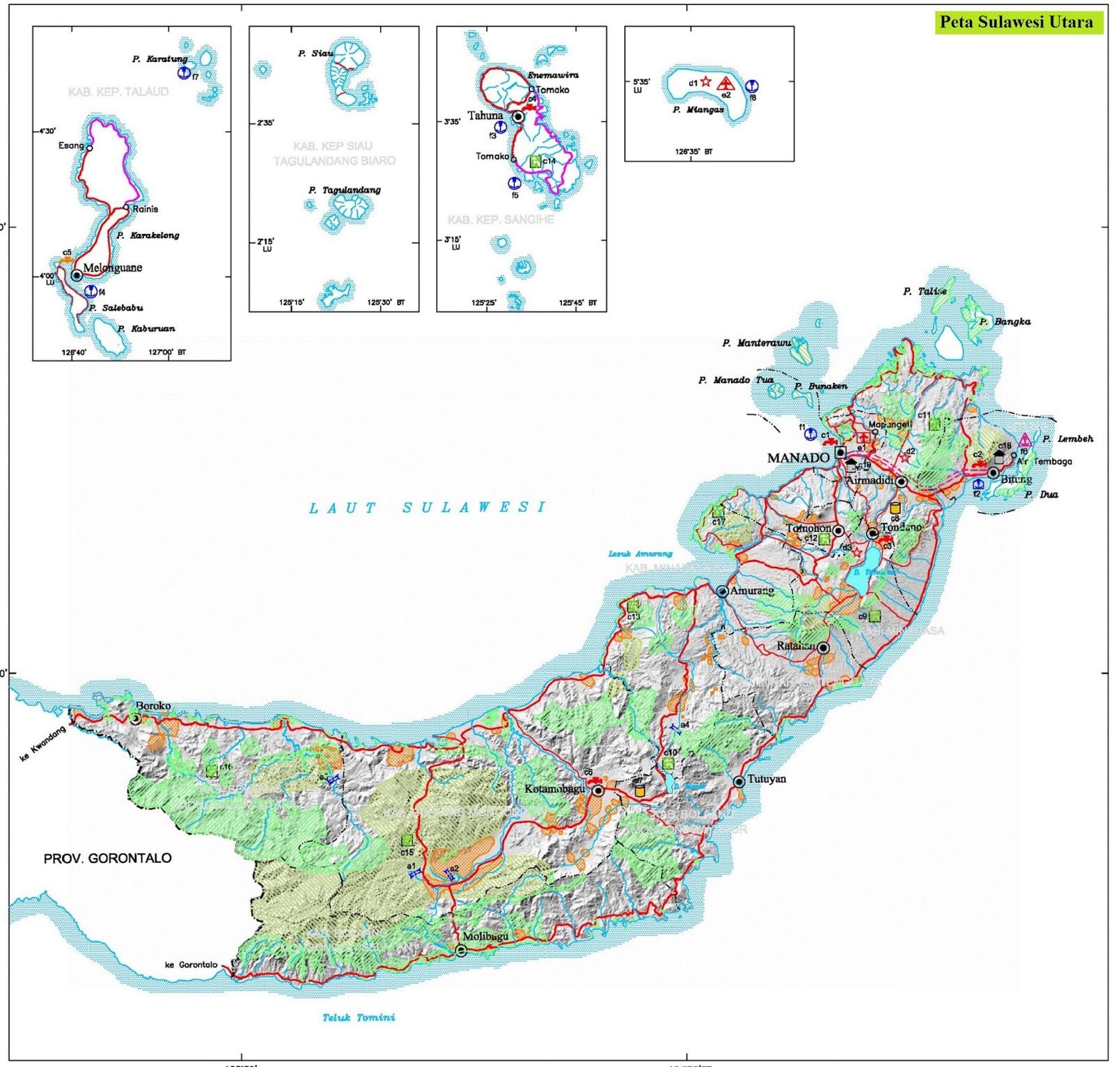 Peta Sulawesi Utara HD