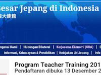 BEASISWA Ke Jepang utk GURU : Program Teacher Training 2019 (Program non-gelar)