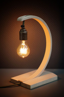 Curved steam bent lamp