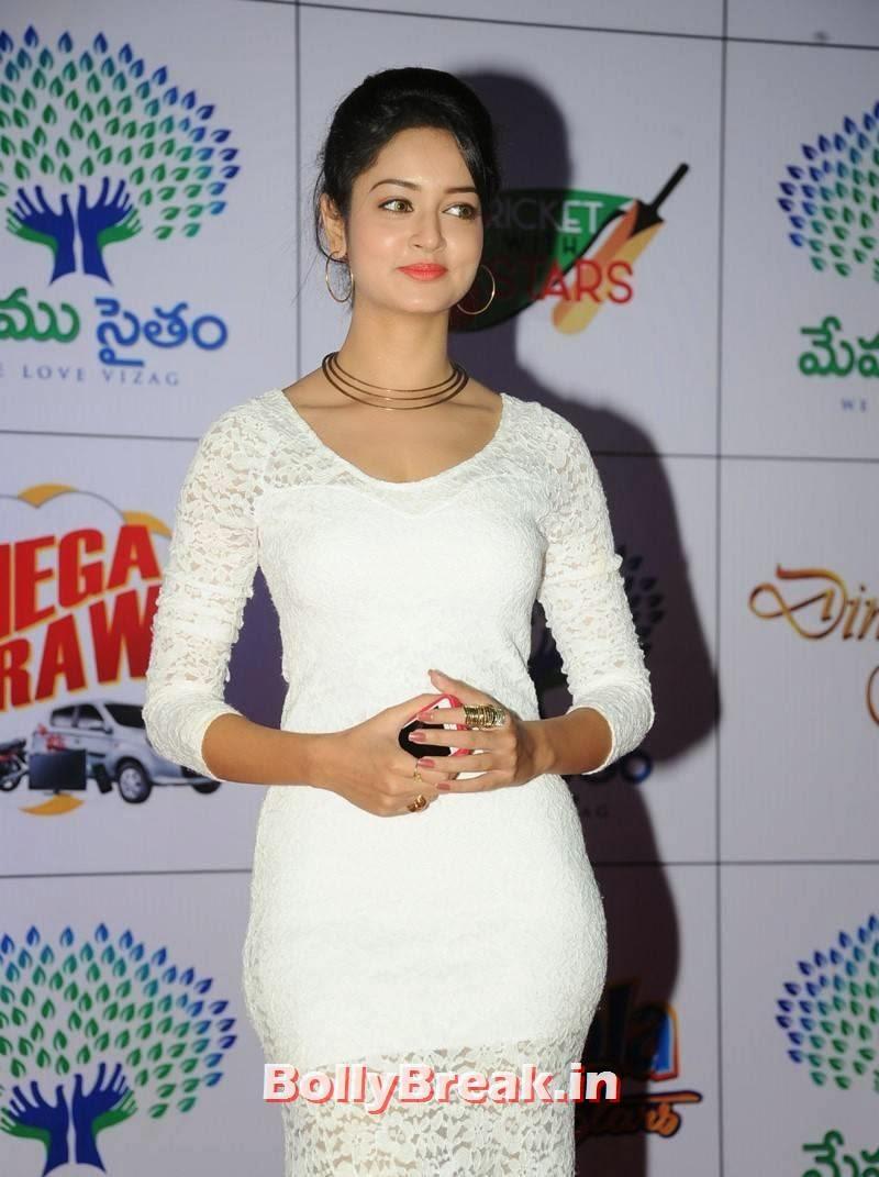 Shanvi Pics in White Dress, Actress Shanvi Hot Sexy Pics in White Dress