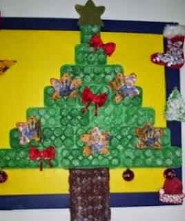 http://manualidadesparaninos.biz/arbol-de-navidad-con-hueveras-de-carton/