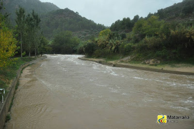 Crecida del río, 19-10-2018, assut, azud