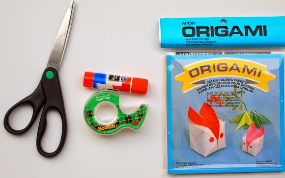 Materials Needed to fold an origami pumpkin