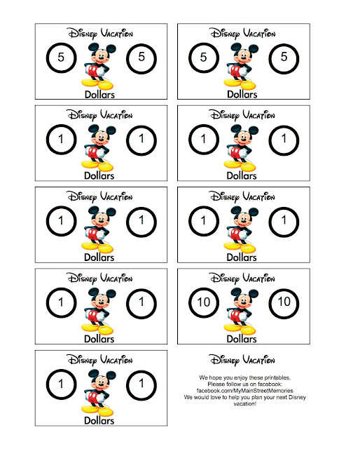 image about Disney Dollars Printable titled Most important Highway Recollections