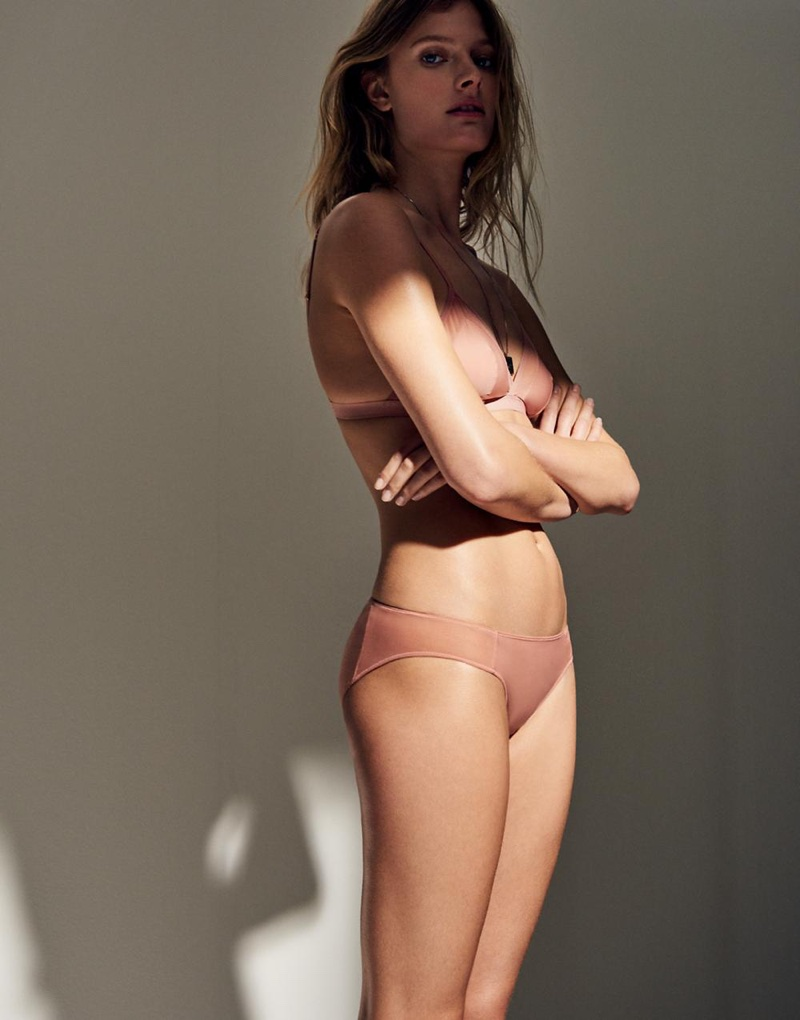 Madewell Mesh-Trimmed Michele Bralette and Mesh-Trimmed Bikini