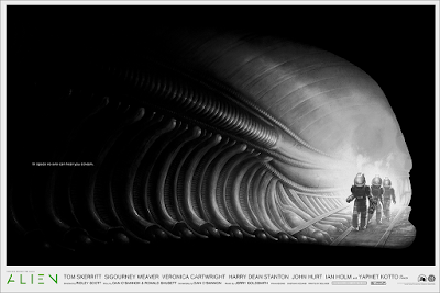 ALIEN Movie Poster Variant Screen Print by Phantom City Creative x Mondo
