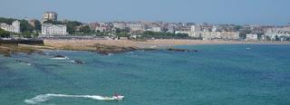 Famosa Playa del Sardinero de Santander.