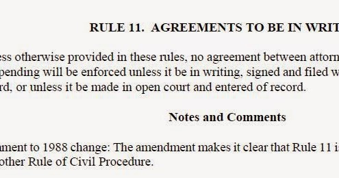 Adr Law Texas Contract Law Governs Rule 11 Settlement Agreements