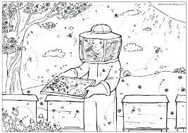 Beekeeping Coloring Pages For Print