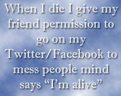 When I die - QuoteGanga