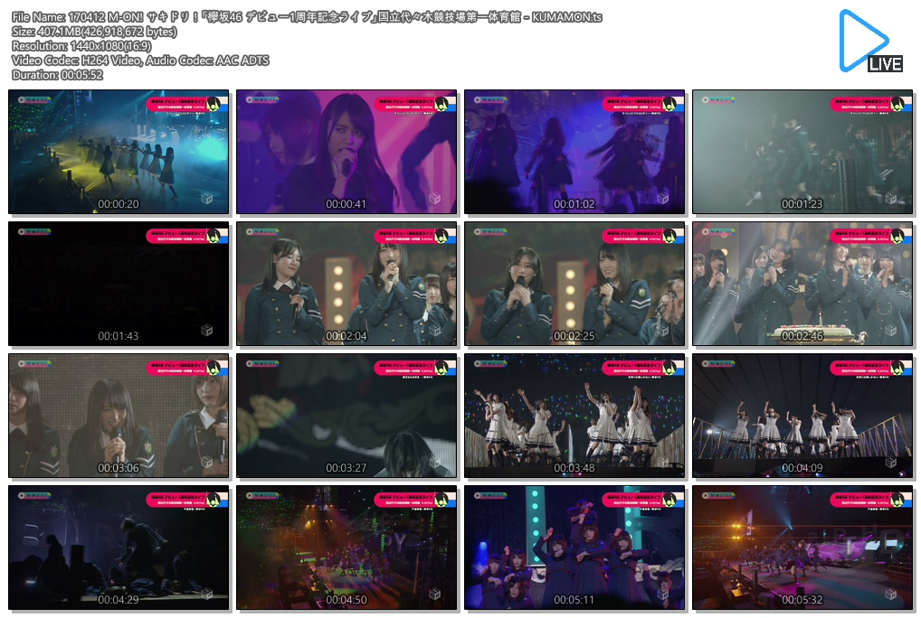 Fam48ina files [concert] 170412 m on! sakidori! u2013 keyakizaka46