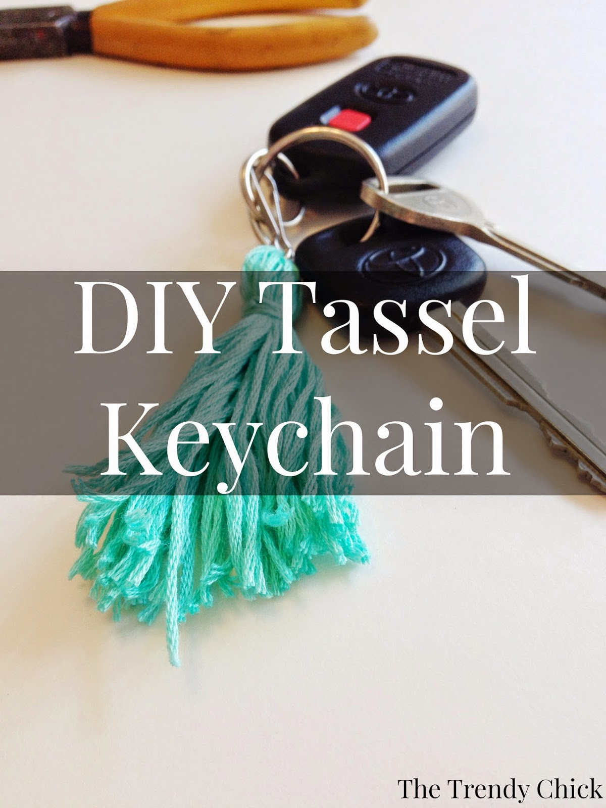 DIY Tassel Keychain + Necklace