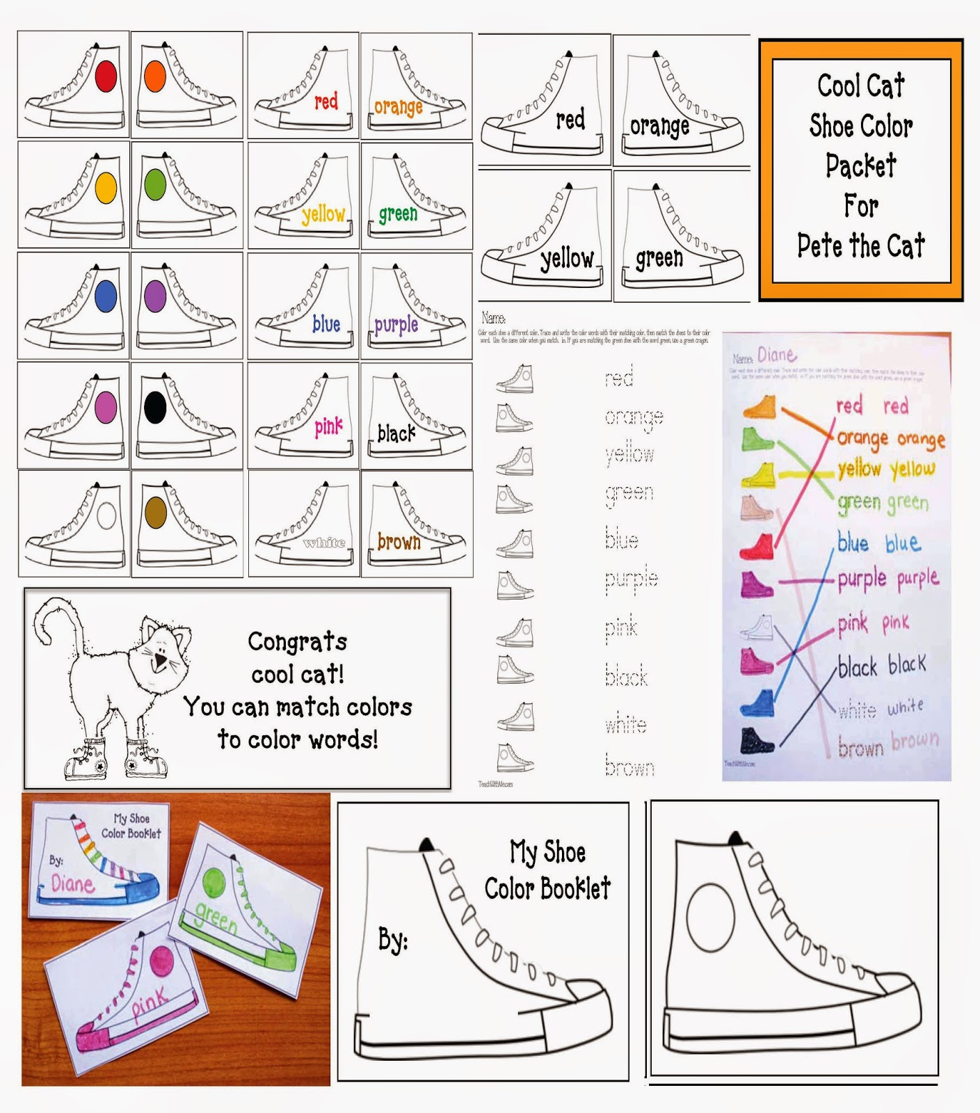 Classroom Freebies Pete The Cat Activities For I Love My