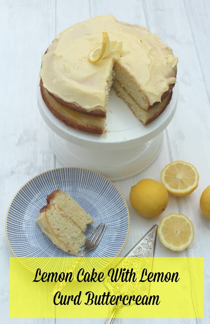 Lemon Cake with Lemon Curd Buttercream