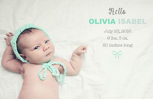 Dainty and Decadent: Olivia Isabel: Birth Story