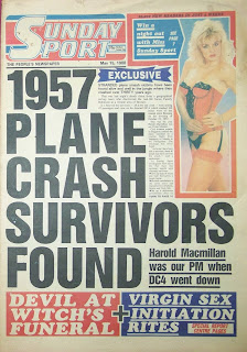 front cover of the Sunday Sport Newspaper dated 15 May 1988