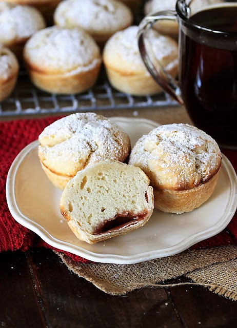 Plate of Grandma's Strawberry Jam Filled Echo Cakes Image