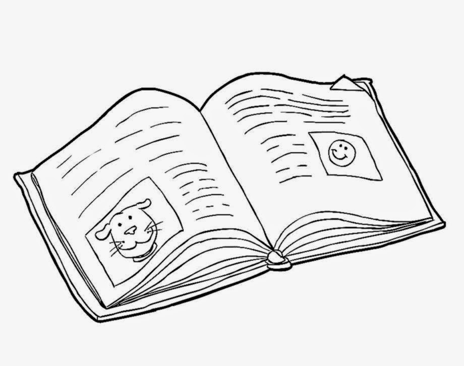 Free coloring pages of open bible