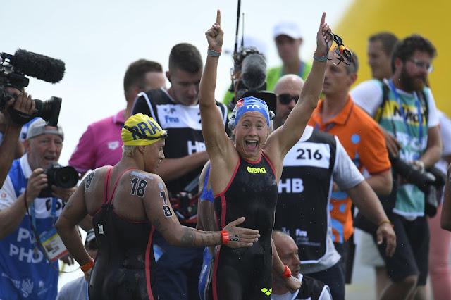 Aurelie Muller championne du monde du 10 km en eau libre