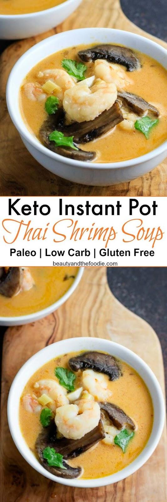 Keto Instant Pot Thai Shrimp Soup