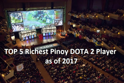 Top 5 Richest Pinoy DOTA 2 Player As Of 2017