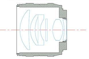 Оптическая схема объектива Kamlan 50mm f/1.1
