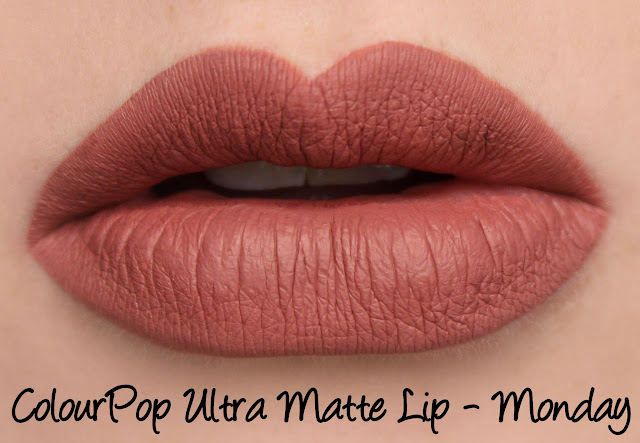 ColourPop Ultra Matte Lip - Monday Swatches & Review