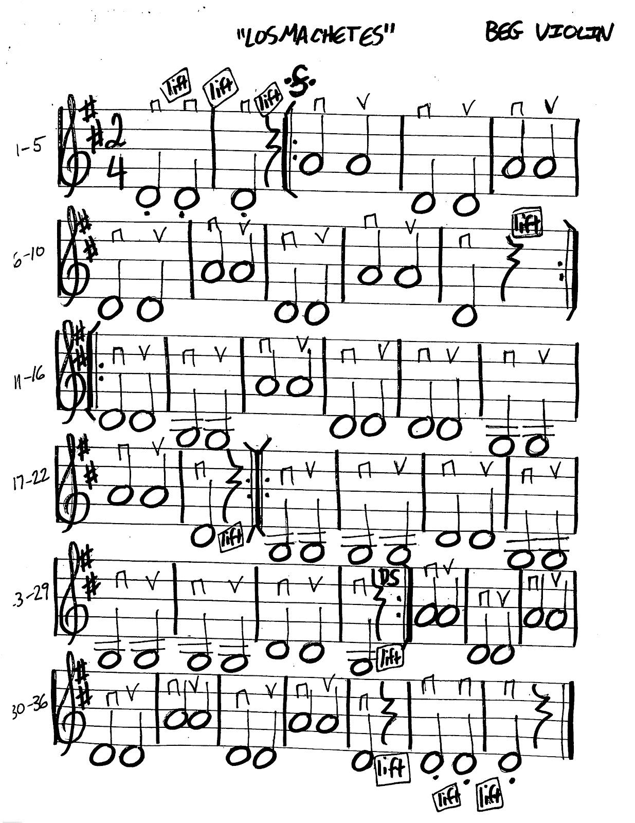 Miss Jacobson's Music: LOS MACHETES MUSIC WORKSHEETS