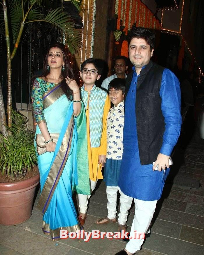 Sonali Bendre, Goldie Behl, Photos from Amitabh Bachchan's Diwali Bash 2014