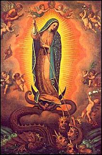 Notre-Dame de Gadalupe terrassant le Serpent