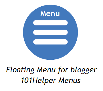 Floating vertical menu for blogger | 101Helper blogger menus