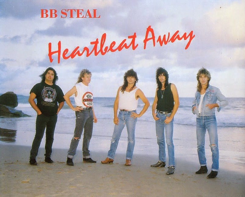 BB Steal Heartbeat away 1989 aor melodic rock