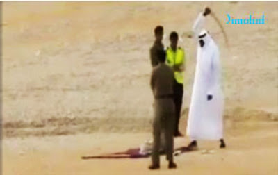 Medieval and barbaric: public beheading in Saudi Arabia (file photo)