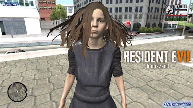 GTA-SA-Modificaciones: Skin Eveline from Resident Evil 7