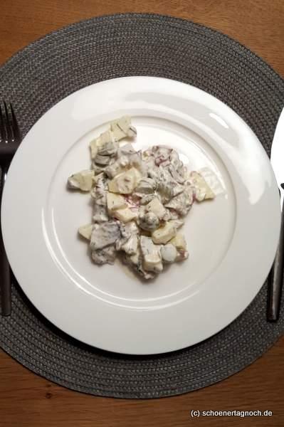 Anti-Kater-Salat mit Bismarckhering und Apfel