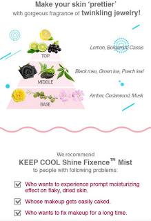 KEEP COOL SHINE FIXENCE MIST PRODUK DARI KOREA YANG MULTIFUNGSI