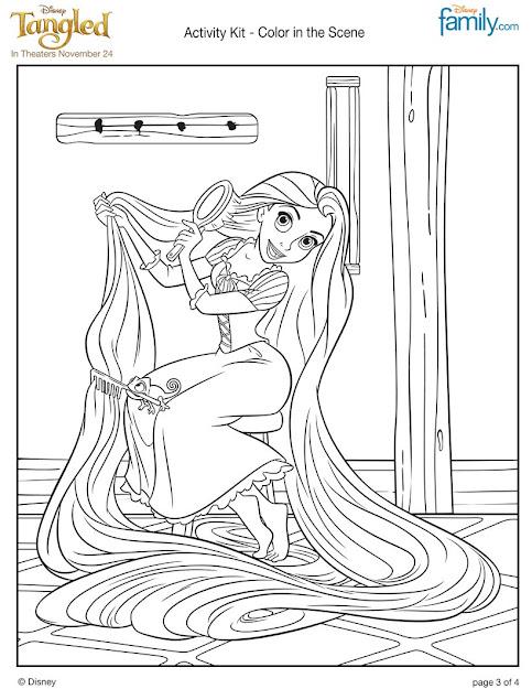 Rapunzels Long Hair Rapunzels Long Hair Coloring Sheet