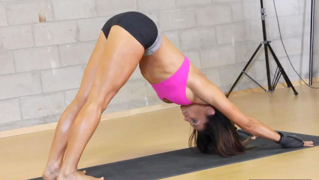 trish stratus naked yoga