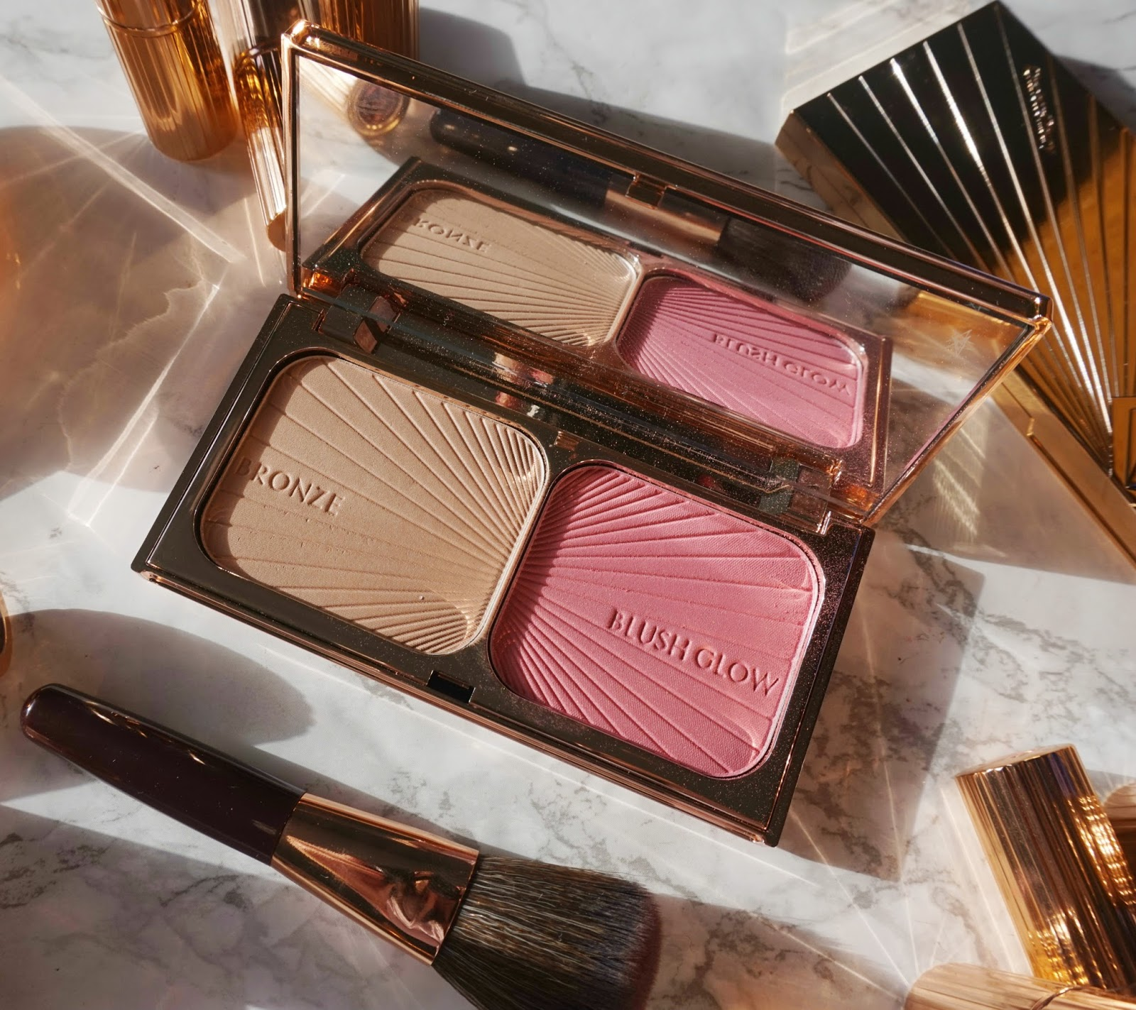 Charlotte Tilbury Bronze & Blush Review & Swatches & Giveaway