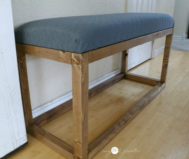 Modern Bench Free Plans at MyLove2Create