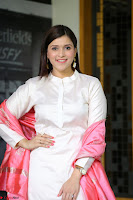 Mannara Chopra in Silky White Salwar Suit with Pink Chunni Latest Exclusive Pics March 2017 ~  031.JPG