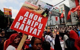Giliran Puluhan Warga Kedoya Jakarta Utara Tolak Kampanye Ahok