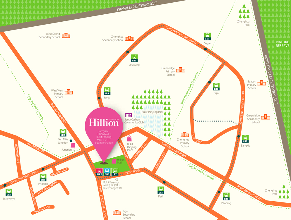 Hillion Residences Location Map